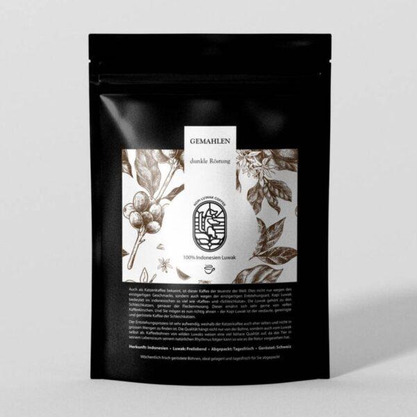 Kopi Luwak Kaffee gemahlen dunkle Röstung